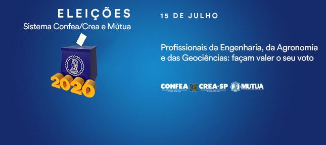 Eleições 2020 – Crea-SP / Confea / Mútua