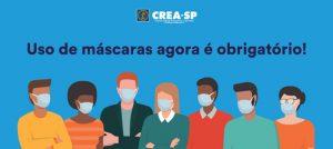 Crea-SP acata decreto que obriga uso de máscaras no estado de São Paulo